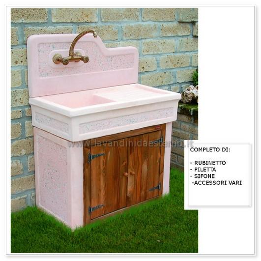 Lavabo da esterno monviso aq7000ma lavandini da esterno lavelli lavabi acquai - Lavandini da esterno ...