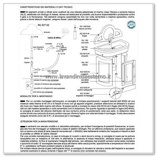 lavabi con mobile consigli manutenzione lavabo da esterno cervino aq5000-r
