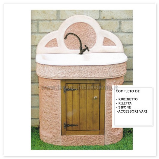 Lavabo da esterno cervino aq5000 r lavandini da esterno lavelli lavabi acquai - Lavandini da esterno ...