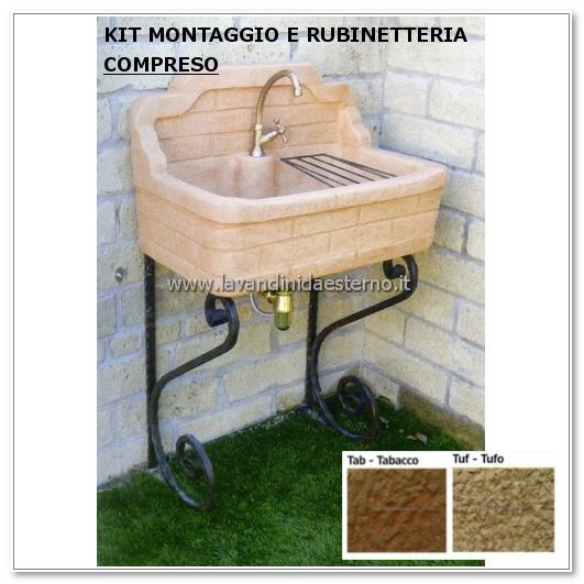 Lavabo da giardino nonna matilde aq9150mt | autoportante