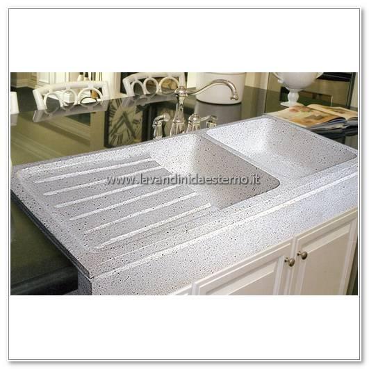 Lavelli da esterno pl105 doppia vasca levigato - Lavandini da cucina in ceramica ...