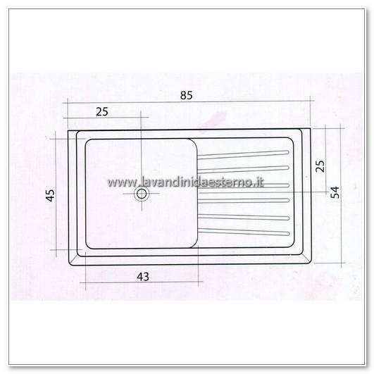 Lavelli da esterno pl509 lavandini da esterno lavelli - Dimensioni minime cucina ...