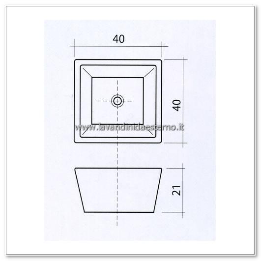 lavabo moderno pl905 - lavandini da esterno | lavelli | lavabi ... - Misure Lavandino Bagno
