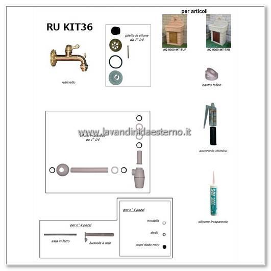 rubinetti per lavabo ru kit 36