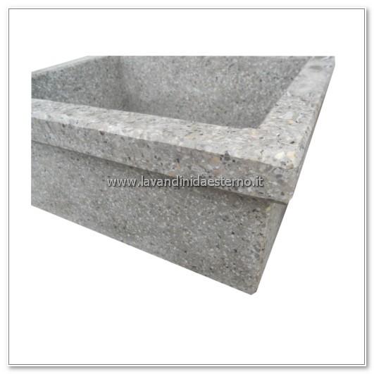 dettaglio lavandini in pietra acquaio in graniglia levigata 276
