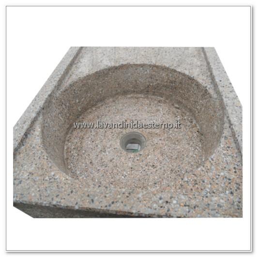 dettaglio vasca acquaio in graniglia levigata 135