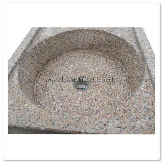 dettaglio vasca circolare acquaio a due buche 154