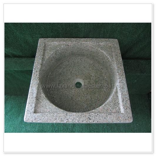 lavello da giardino pilozzo in graniglia levigata 219 - lavandini ... - Piccolo Giardino Quadrato