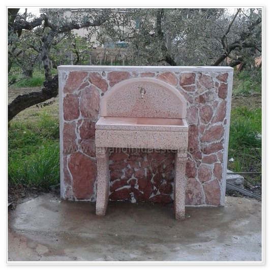 Acquaio da giardino lavandino 80 m rettangolare con vasca - Lavandino per giardino ...