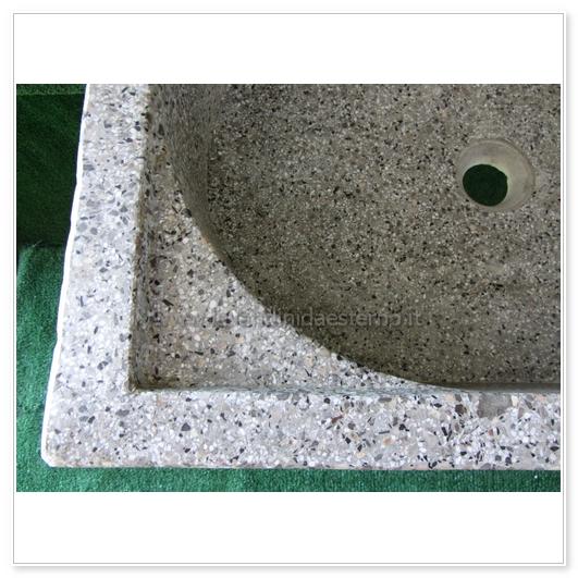 Lavello da giardino pilozzo in graniglia levigata 219 - Cucina da giardino ...