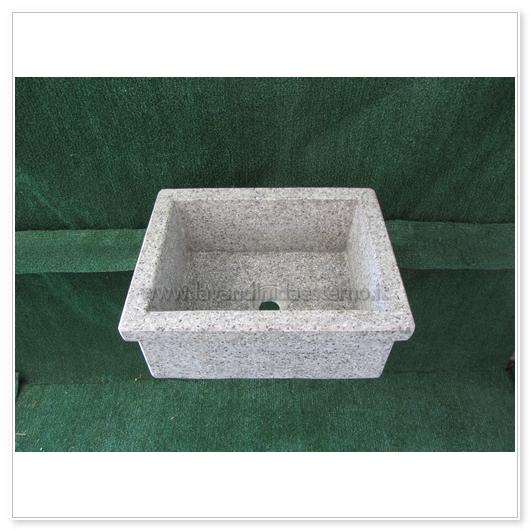 Lavello da giardino pilozzo in graniglia levigata 254 - Lavandino in pietra per esterno ...