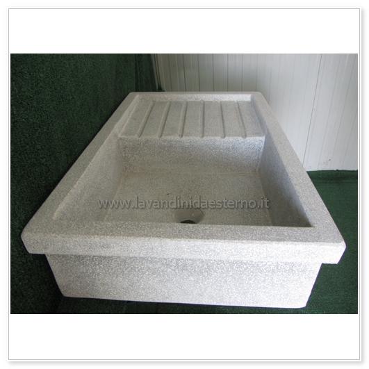 Lavabo In Ceramica Per Esterno.Lavello Da Giardino Acquaio In Graniglia Levigata 71 Vari Colori