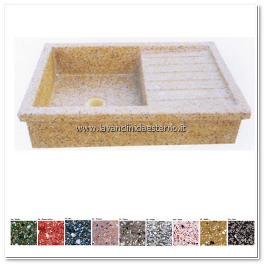 lavello giardino pietra : lavello da giardino acquaio in graniglia levigata 64 - lavandini da ...