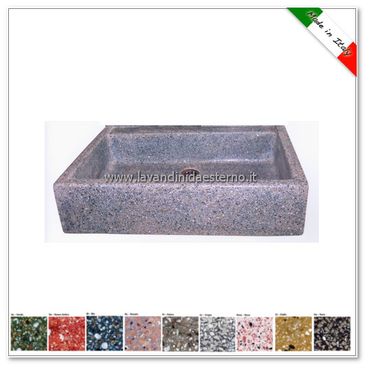 ... graniglia colorata 341 dimensioni 73 x 60 x 20 cm 383 00 500 00 colori