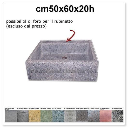 lavello da giardino acquaio in graniglia colorata 343