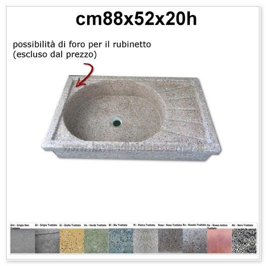 lavello da giardino acquaio in graniglia levigata 122