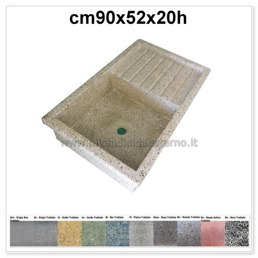 lavello da giardino acquaio in graniglia levigata 57