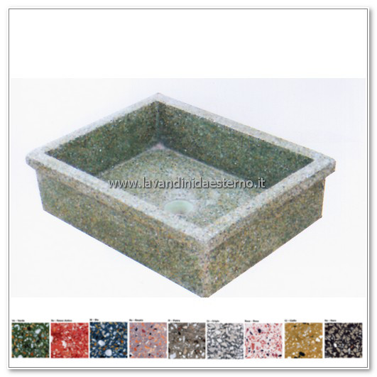 lavello giardino pietra : lavello da giardino pilozzo in graniglia levigata 240 - lavandini da ...