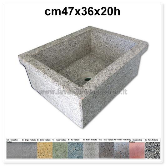 lavello da giardino pilozzo in graniglia levigata 254