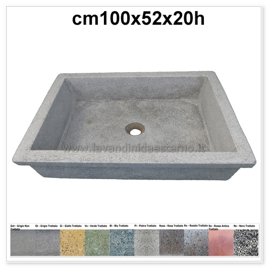 lavello da giardino pilozzo in graniglia levigata 276
