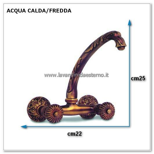 rubinetto da giardino gruppo lavello a parete cf ru222 misure