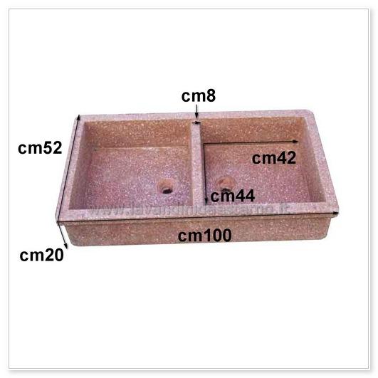 scheda tecnica lavello da giardino acquaio in graniglia levigata 61014765