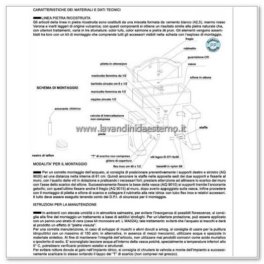consigli manutenzione lavandini da esterno nonna lucia aq9050-rok