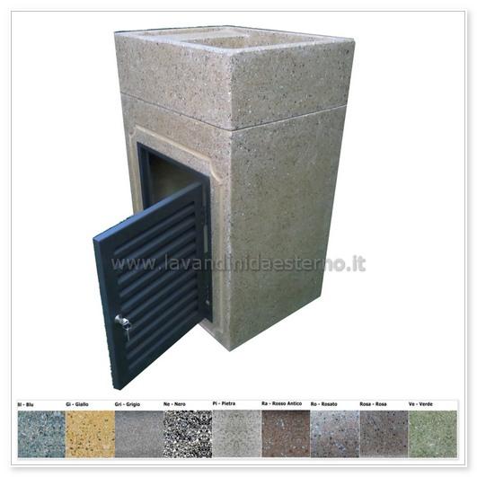 Lavabo da esterno 293 con sportello in grafite 299 - Lavatoio in pietra da esterno ...