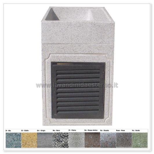 Lavabo da esterno 294 con sportello in grafite 300 lavandini da esterno lavelli lavabi - Lavandini da esterno ...