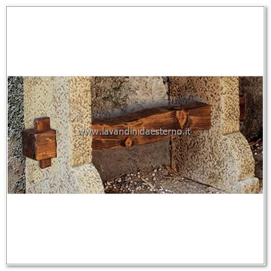 dettaglio legno lavandino da esterno tenerife lr1601