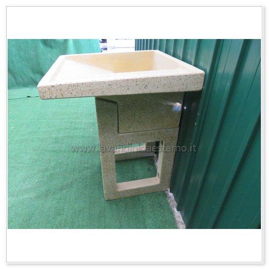 Lavatoio da esterno con supporti separati 4549 in - Lavatoio in pietra da esterno ...