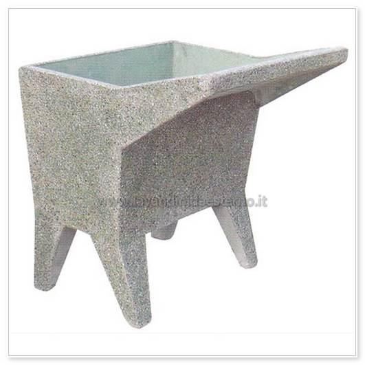 lavatoio da esterno una vasca 14 in graniglia levigata - lavandini da esterno  lavelli  lavabi ...