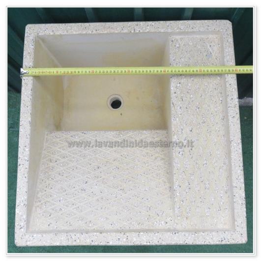 Lavatoio da esterno 45 in graniglia levigata vari colori disponibili - Lavatoio in pietra da esterno ...