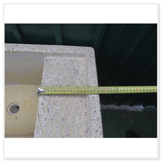 Lavatoio da esterno con supporti separati 4549 in graniglia levigata lavandini da esterno - Lavatoio in pietra da esterno ...