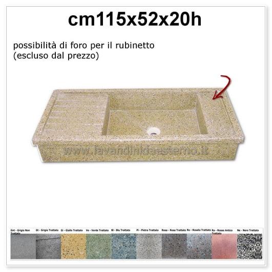 lavello da esterno acquaio in graniglia levigata 66