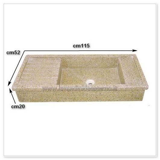 Lavello da esterno acquaio in graniglia levigata 66 - Lavello da esterno ...