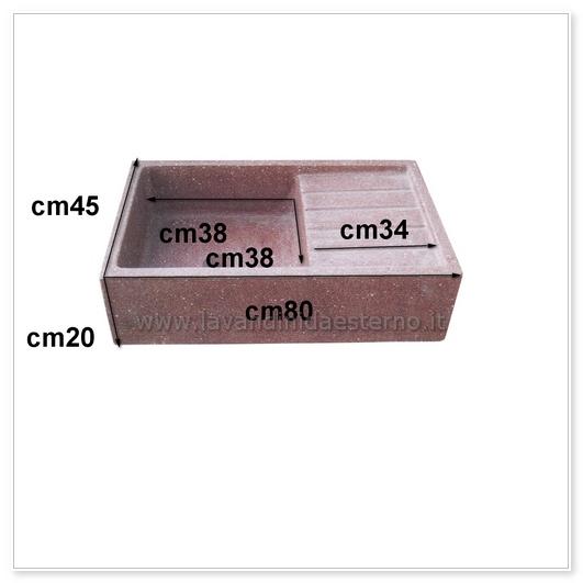 scheda tecnica lavelli per esterno acquaio in graniglia colorata 61014141