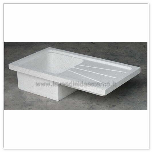 lavello cucina acquaio in graniglia levigata 579pl631 - lavandini da ...