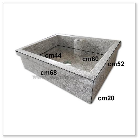 scheda tecnica lavello cucina acquaio in graniglia levigata 821