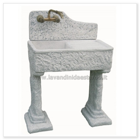 Lavandino per esterno penice con gocciolatoio 1731 - Lavandino in pietra per esterno ...