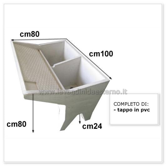 scheda tecnica lavatoio cm100