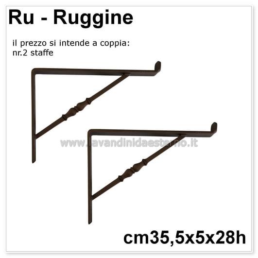 Staffe in ferro battutto ac87 verniciatura a polveri for Prezzo ferro al kg 2017