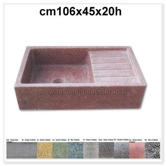 lavelli per esterno acquaio in graniglia colorata 202