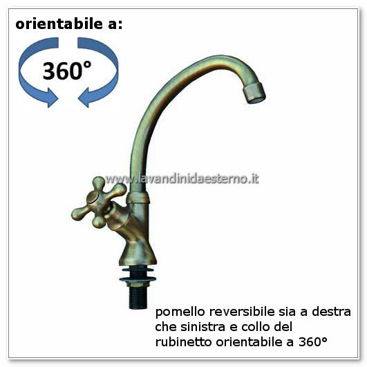 rubinetti da esterno piegato con croce ru191