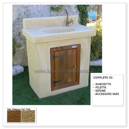 Lavabo da esterno nonna amalia aq3000rok con sportello - Mobiletto da esterno ...