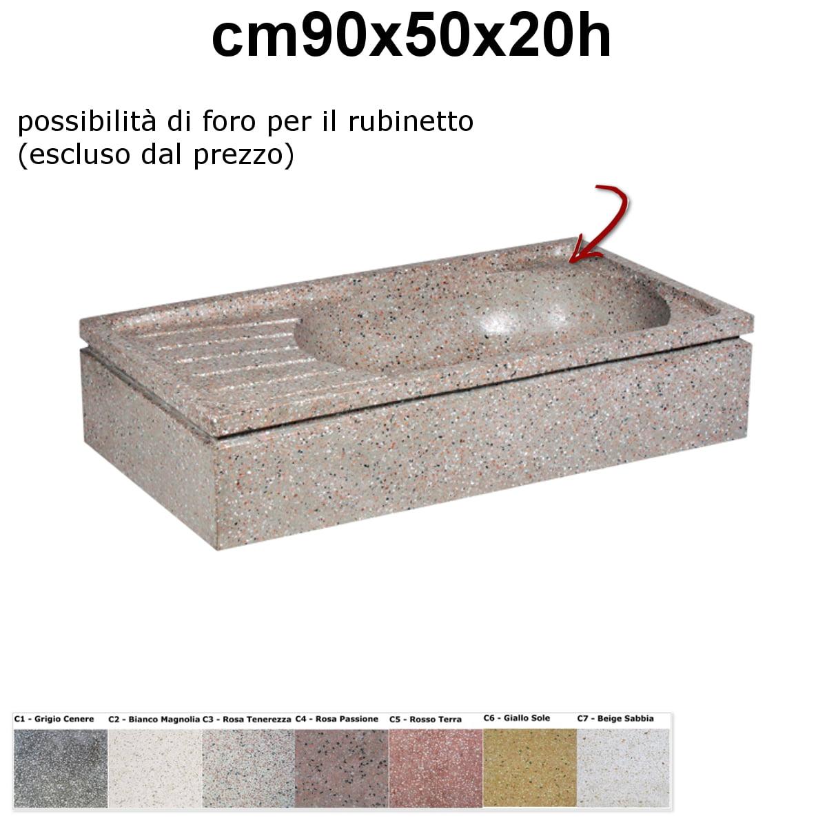 Lavelli da esterno pl202 vasca ovale - Lavandini da esterno ...