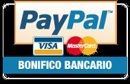 Accettiamo: pay pal - bonifico - contanti ritiro in sede