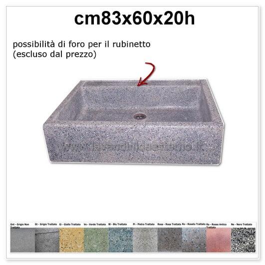 lavello da giardino acquaio in graniglia colorata 340