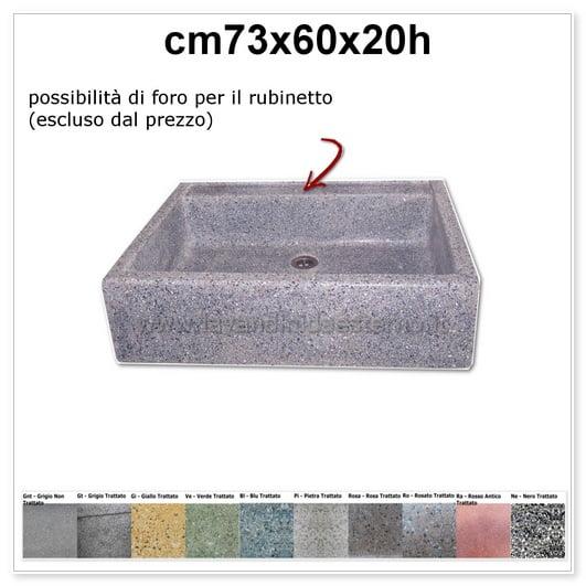 lavello da giardino acquaio in graniglia colorata 341