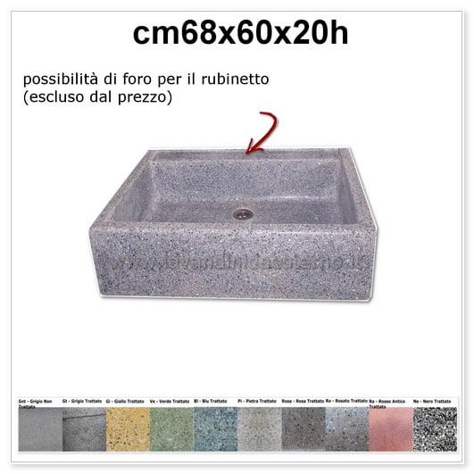 lavello da giardino acquaio in graniglia colorata 342